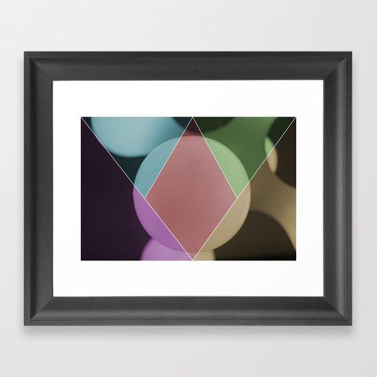 colour dimonds Framed Art Print