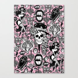 Pink Halloween Canvas Print