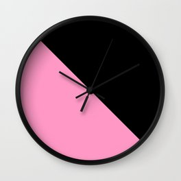 Just two colors 1: pink and black Wall Clock