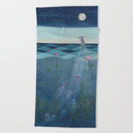 The Deep Blue Beach Towel