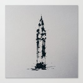Splaaash Series - Big Ben Ink Canvas Print