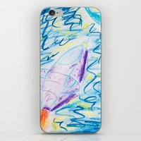 spaceship iPhone & iPod Skins featuring Spaceship by SorinaBogiu