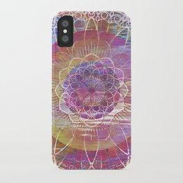 Glitch Mandala iPhone Case