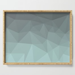 Light Steel Blue Polygon Serving Tray