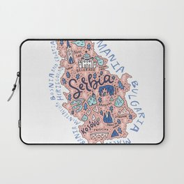 Map of Serbia Laptop Sleeve