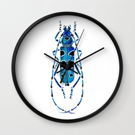 Beetle 09 blue Wall Clock