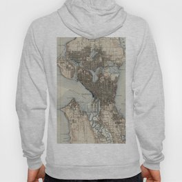 Vintage Map of Seattle Washington (1908) Hoody