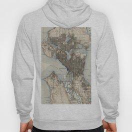 Vintage Map of Seattle Washington (1908) Hoody