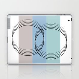 Illustration os a sweet abstract design geometrical with circles and lines Laptop & iPad Skin
