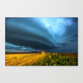 UFO - Storm After Dark in Southern Oklahoma Canvas Print