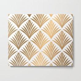 Art Deco Pattern in Gold Metal Print