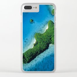 Angel Serenity Island: Palau Tropical Paradise Clear iPhone Case