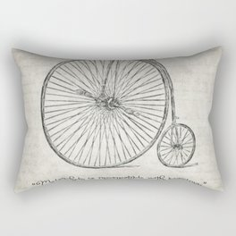 Melancholy is Incompatible with Bicycling Rectangular Pillow