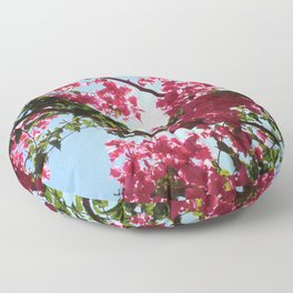 Perfect Pink Bougainvillea In Blossom Floor Pillow