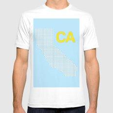 California Mens Fitted Tee White MEDIUM