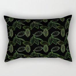 Cacao Pods (Black Glow) - Camo Rectangular Pillow