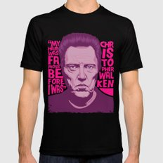 Christopher Walken Mens Fitted Tee Black MEDIUM