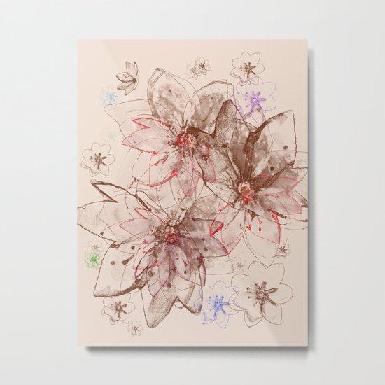 Whirlwind of petals(6). Metal Print