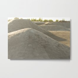 Dirt Shapes  Metal Print