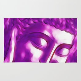 Pink Purple Buddha Art Portrait Rug