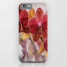 Pretty  'Orchid  and Moonlight' Botanical Wall Art iPhone Case