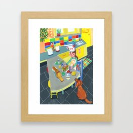 Little chef Framed Art Print