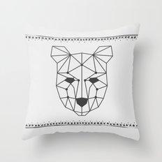 Totem Festival 2015 - Black & White Throw Pillow