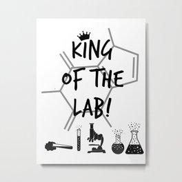 King of The Lab Metal Print