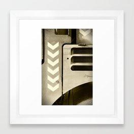 Road Roller Chevron 05 - Industrial Abstract Framed Art Print