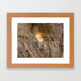The Light in the Wall Framed Art Print