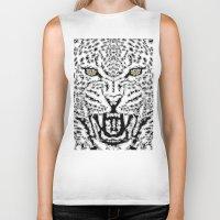 leopard Biker Tanks featuring Leopard by BUBUBABA