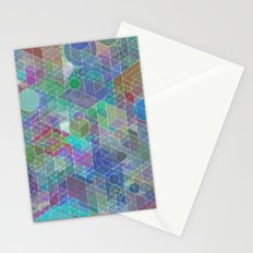 Panelscape + circles - #2 society6 custom generation Stationery Cards