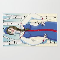 russian Area & Throw Rugs featuring Russian beauty by Galina Khabarova