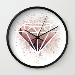Rose-Coloured Glasses Wall Clock