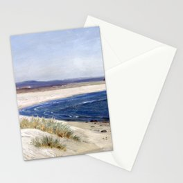 Amaldus Nielsen People on a Beach Stationery Cards