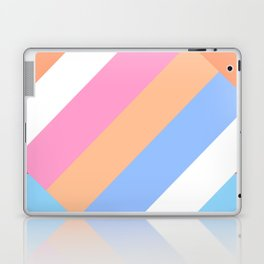 Matted Pastel Rainbow with White Laptop & iPad Skin