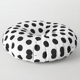 Polkadots (Black & White Pattern) Floor Pillow
