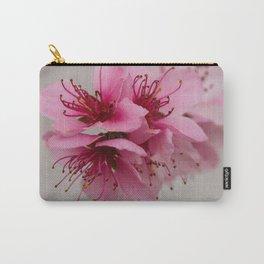 Peach blossom closeup Carry-All Pouch