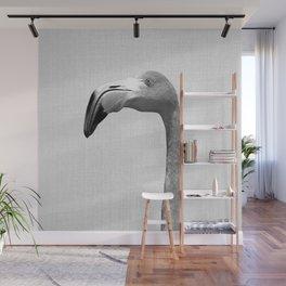 Flamingo - Black & White Wall Mural
