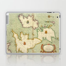 Vintage Map of The British Isles (1707) Laptop & iPad Skin