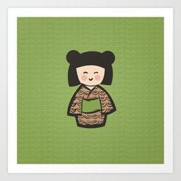 Geisha Dress Code (green) Art Print