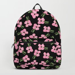Tulips on black Backpack