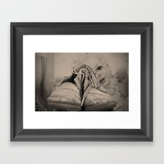 Forever Baby Shoes Framed Art Print