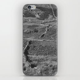 Drystone wall on a hillside. Cumbria, UK iPhone Skin