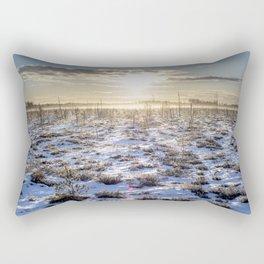 Frozen swamp in the sunrise Rectangular Pillow