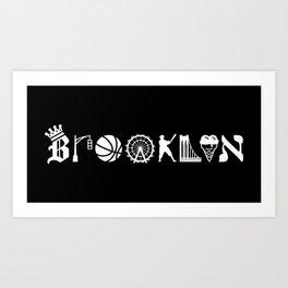 Brooklyn Letters, Ver. 1 Art Print