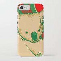 koala iPhone & iPod Cases featuring Koala by whiterabbitart