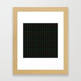 green plaid Framed Art Print
