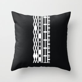 The DNA of colours - White Throw Pillow