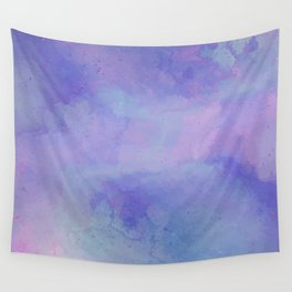 Watercolour Galaxy - Purple Speckled Sky Wall Tapestry
